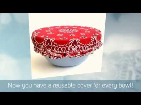 DIY Vintage Bandana Bowl Covers