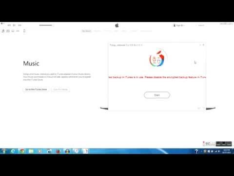 Pangu - How to enable iTune is in use  Please disable the encrypted