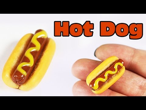 polymer clay Hot Dog TUTORIAL | polymer clay food
