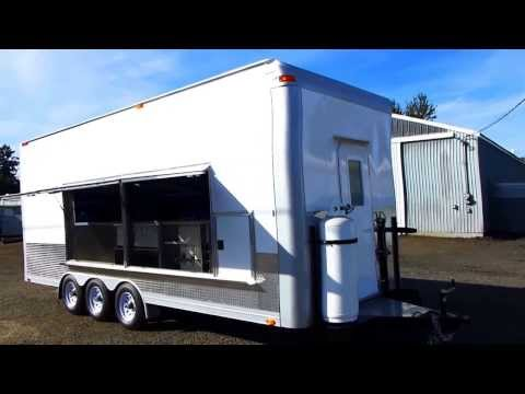 (Outside video) Custom Build Concession Trailer for Catering NBC Shows