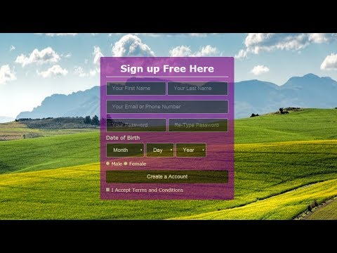 Best transparent  validate sign up form