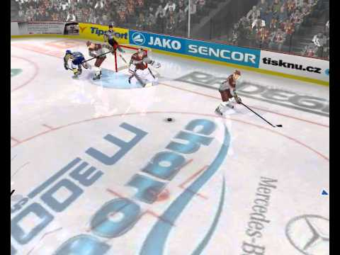 NHL 2004 Rebuilt - skates goal