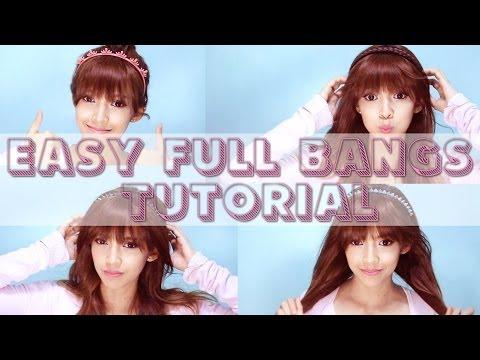 Easy Full/Blunt Bangs tutorial