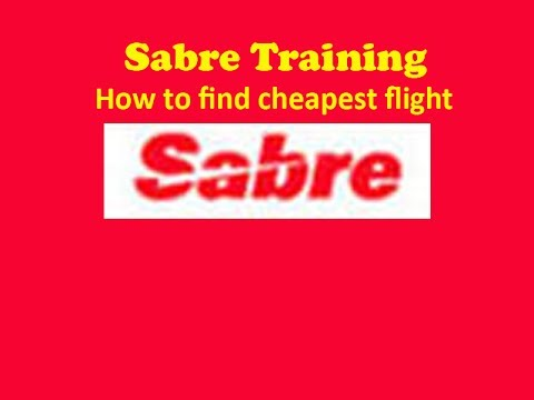 Sabre Training- How to find out cheapest available fare