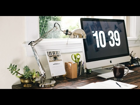 Salvapantalla de reloj en Windows y  Mac