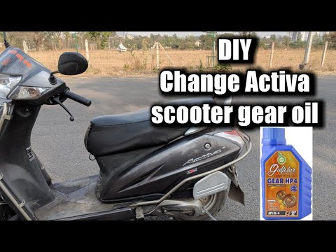 How to change Activa scooter gear oil