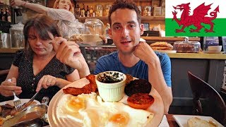 Download TRYING WELSH FOOD 😱- American's FIRST IMPRESSION of Cardiff, Wales ! (Tasting British Food) Video