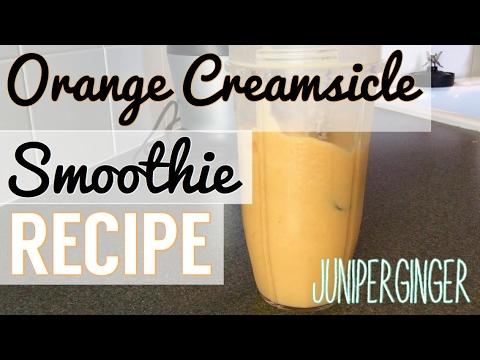 ORANGE CREAMSICLE Smoothie Recipe! |JuniperGinger