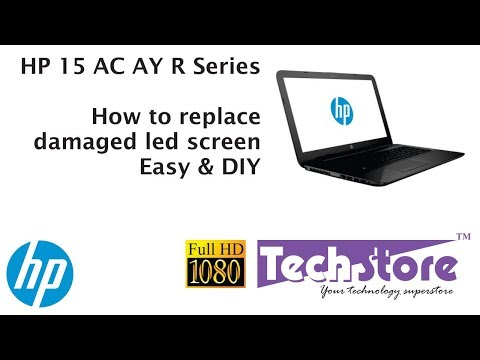 HP 15 AC AY R Series : How to replace damaged led screen 15.6 30 pin easy diy full hd