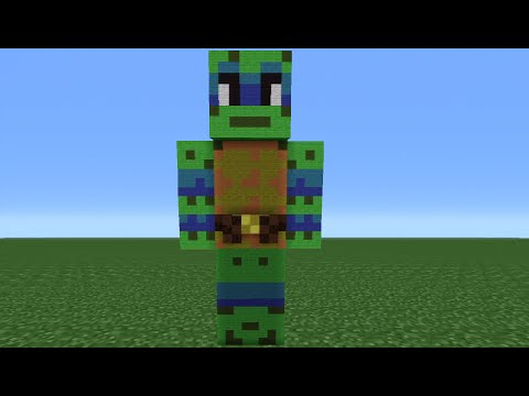Minecraft Tutorial: How To Make A Teenage Mutant Ninja Turtle Statue