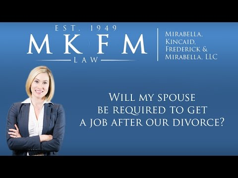 Will My Spouse Be Required To Get A Job After Our Divorce?