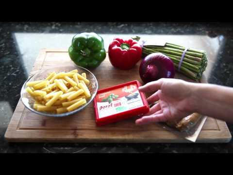 Easy Recipe - Basil, Asparagus, Pepper, and Chicken Sausage Pasta