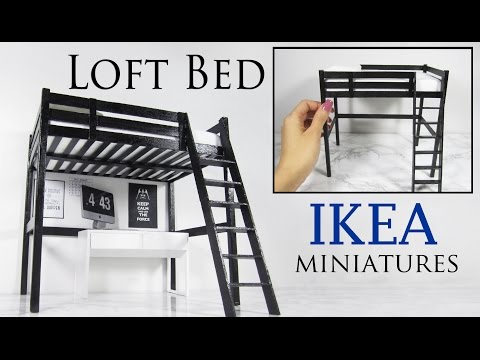 Miniature IKEA Loft Bed Tutorial