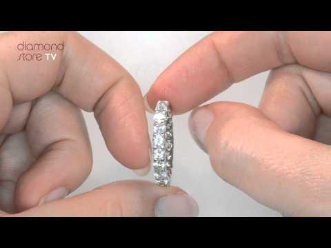 HG34 - Chloe 2ct Diamond Full Eternity Ring in 18K White Gold