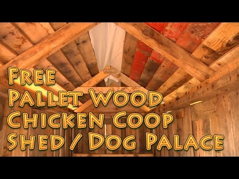 Free Recycled Pallet Wood Shed Chicken Coop