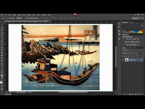 Preparing an image file for printing onto a canvas wrap