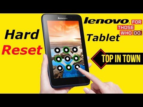 LENOVO Tablet Hard Reset | Unlock Pattern 2017