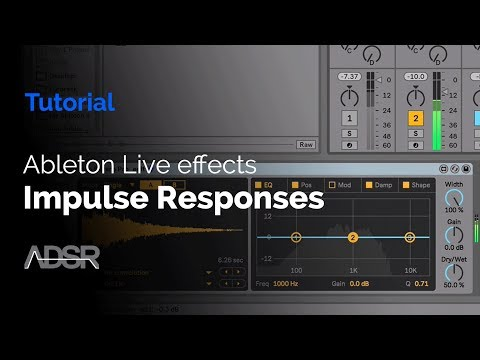 Create Impulse Responses using Ableton Live effects
