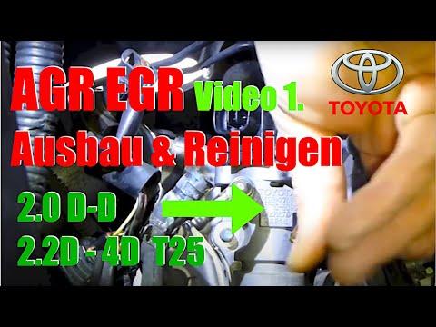 EGR valve cleaning  Toyota d4d Teil 1