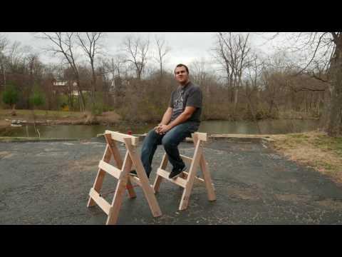 $20 Sturdy Folding 2x4 Saw Horses