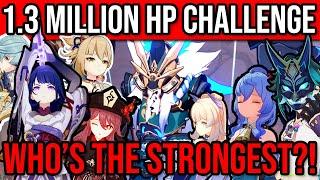 1.3 MILLION HP CHALLENGE! WHO'S THE BEST DPS?! 16 Popular Teams! Genshin Impact