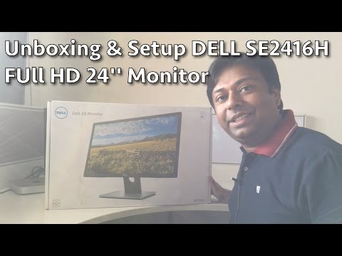 Dell 24 inch Monitor SE2416H Unboxing and Setup