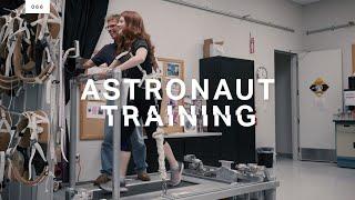 Testing out an astronaut's exercise regimen