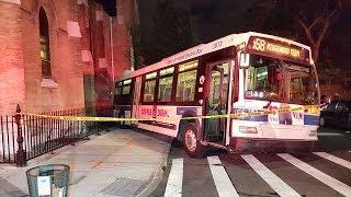 Runaway MTA Bus Crashes Down Brooklyn Street, Into Church!   What