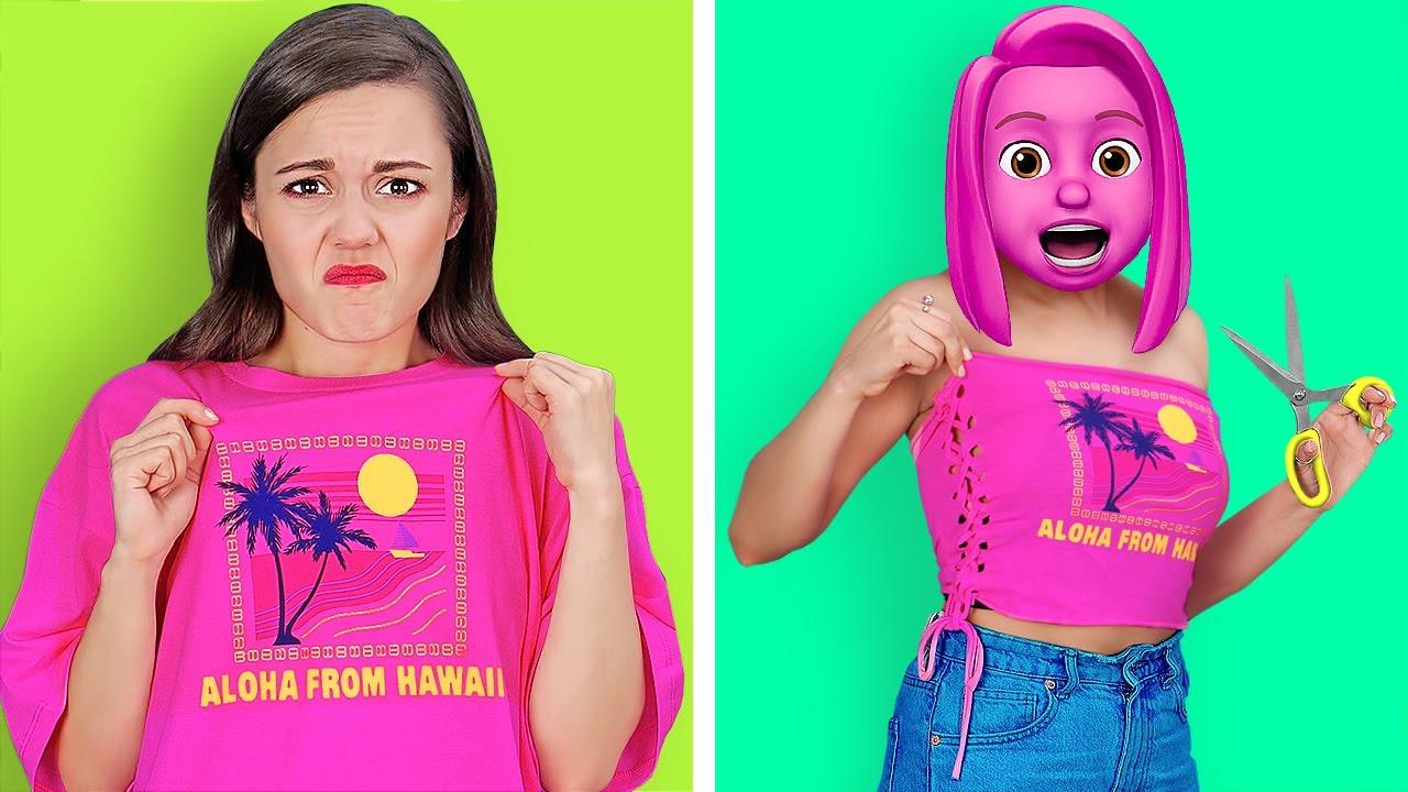 GENIUS CLOTHES HACKS FOR POPULAR GIRLS || Smart DIY Ideas by 123 GO! SCHOOL