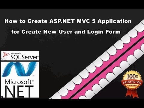 MVC Login and Create New User | How to create Login and New user registration in mvc