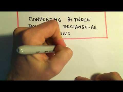 Converting Between Polar and Rectangular Equations, Ex 1