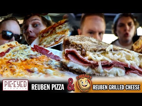 Eating Pie-Eyed's Reuben Pizza and Cheesie's Reuben Grilled Cheese | Malarky Month