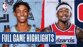 GRIZZLIES at WIZARDS | FULL GAME HIGHLIGHTS | February 9, 2020