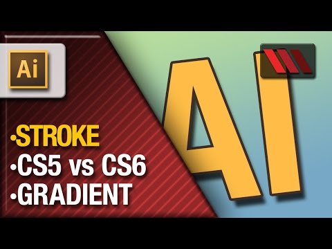 Adobe Illustrator - Gradient Strokes CS5 vs CS6 (Tutorial by VOXLAB)