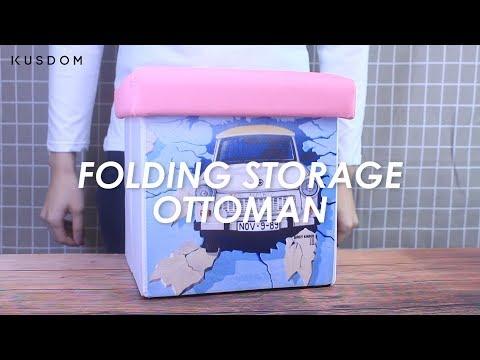 Folding Storage Ottoman - Design Your Own