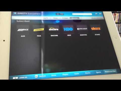 Updated DirecTV iPad app
