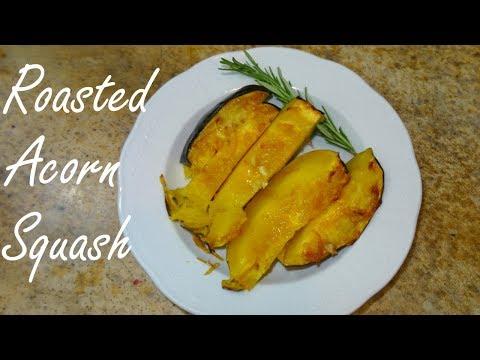 Roasted Acorn Squash with Brown Sugar and Garlic