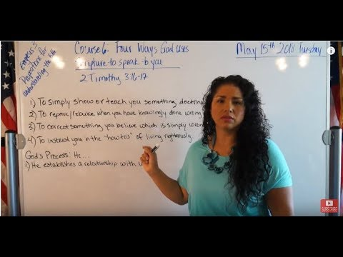 EMOAF S.O.M Back To Basics   Propositions Exegesis Three Course 6: Four ways God uses Scripture t...