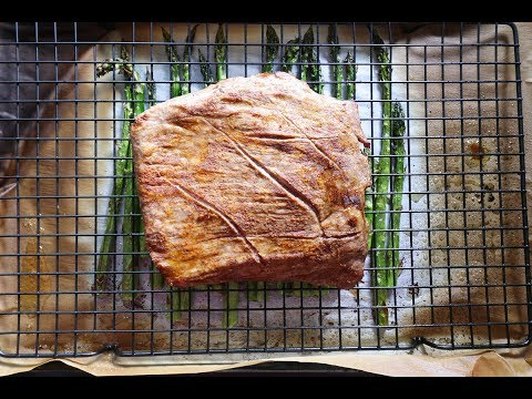 Sheet Pan Cajun Flank Steak with Asparagus and Remoulade