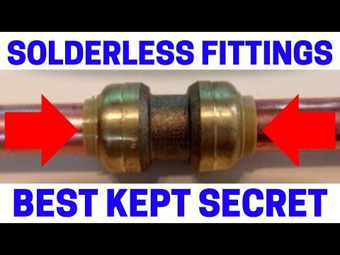 Copper Pipe Solderless Push On Fittings