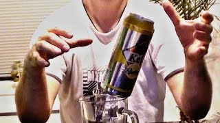 Beer Can balancing on edge of a glass. Cool!