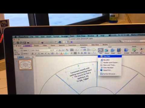 Creating a graphic organizer using Microsoft PowerPoint--Mac