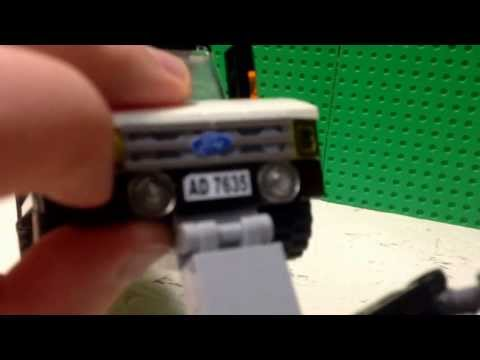 Lego ford diesel pick-up with plow and salt spreader review