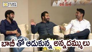 NTR and Kalyan Ram Making Fun of Director Bobby : Hilarious Video - Filmyfocus.com