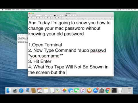 Change Your Mac Password Without Knowing The Old Password