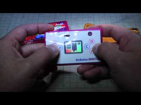 Arduino MINTIA - Game Console In A Candy Box - Demo