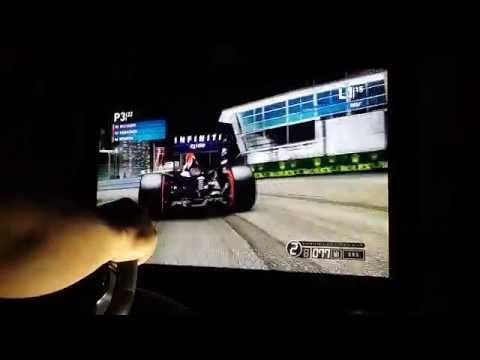 F1 2014 Singapore Marina bay street circuit gp. Xbox 360
