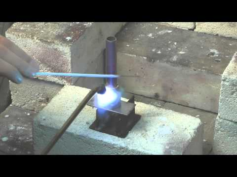 Brazing copper pipe to brass using Silver-flo 55 Flux Coated Rod
