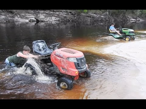 Taking all Three Mowers for a River Ride Part 3