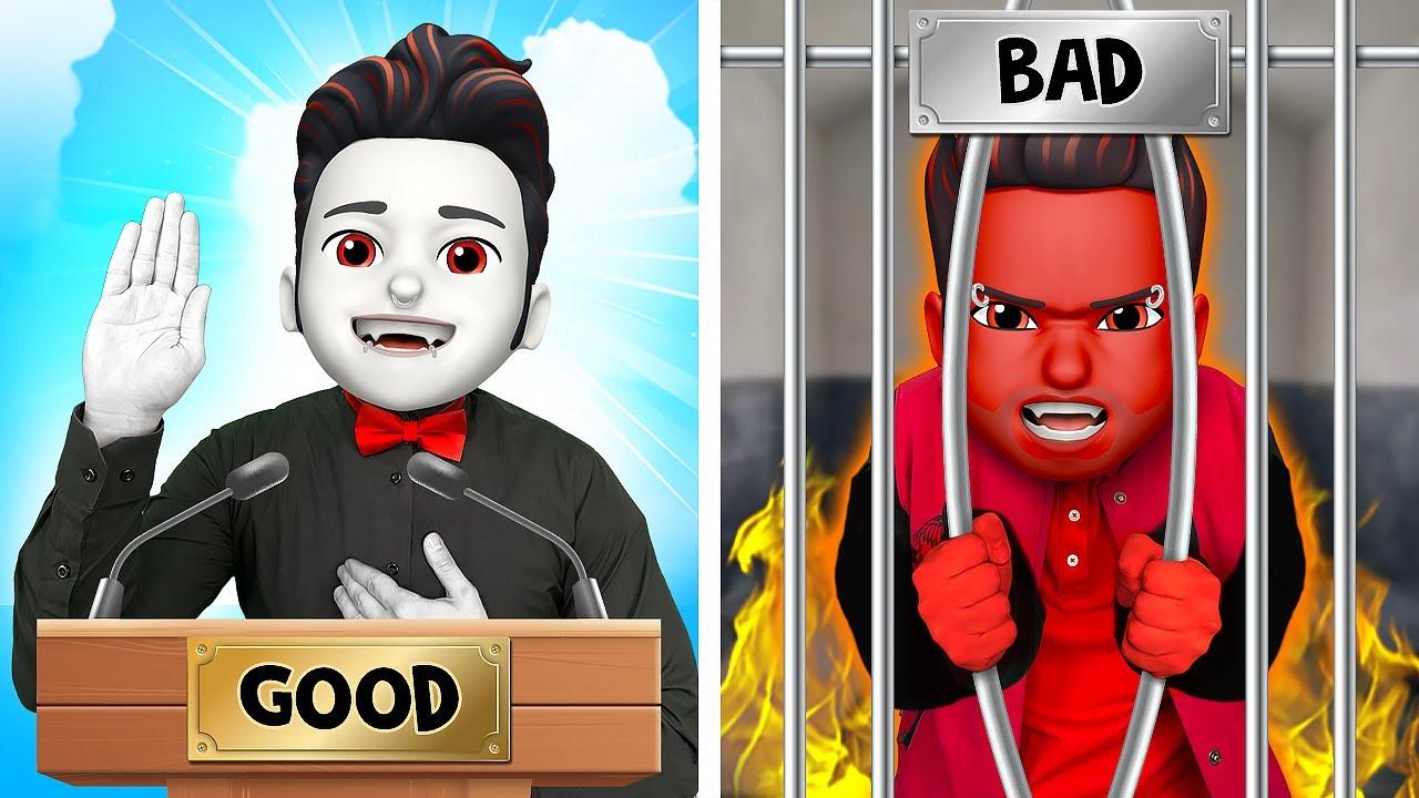 GOOD student VS BAD student   awkward situations at MONSTERS school by La La Life Emoji